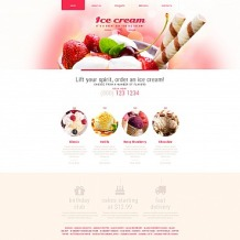 Ice Cream Responsive Moto CMS 3 Template
