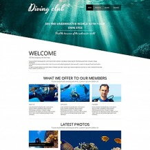 Diving Moto CMS HTML Template