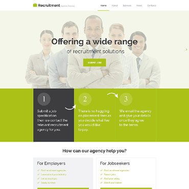 Public Relations Responsive Website Template #54957