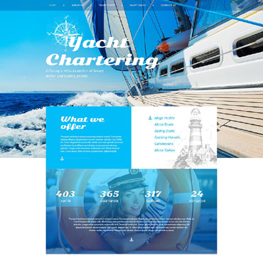 Yachting Responsive Website Template