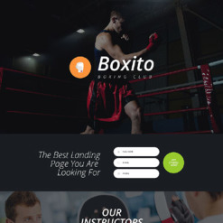 Boxing Responsive Landing Page Template