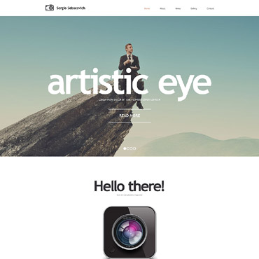 Photographer Portfolio Responsive Website Template #55237