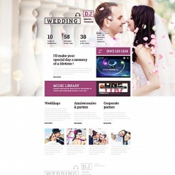 Wedding Responsive Moto CMS 3 Template