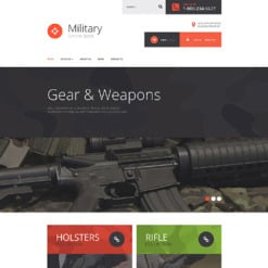 Military Responsive VirtueMart Template