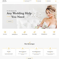 Wedding Shop Responsive Website Template
