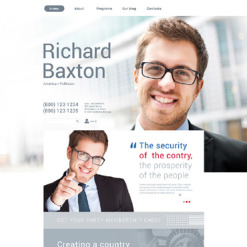 Political Candidate Responsive Drupal Template
