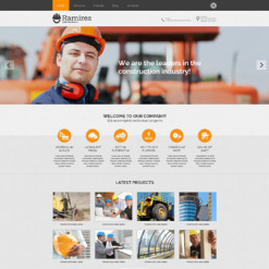 Construction Company PSD Template