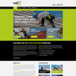 Roofing Company PSD Template