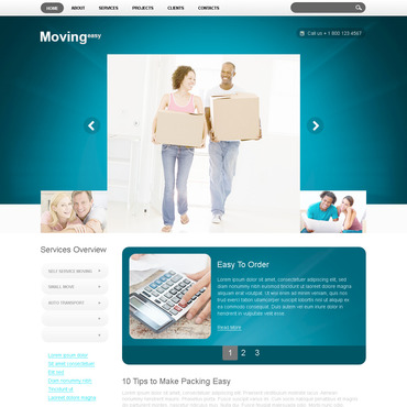 Moving Company PSD Template