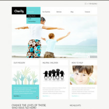 Child Charity PSD Template