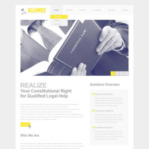 Law Firm PSD Template