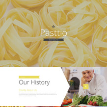 Italian Restaurant Responsive Landing Page Template