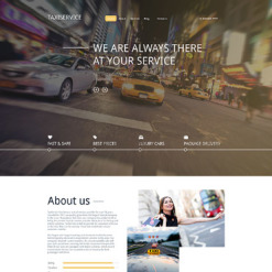 Taxi Responsive Drupal Template