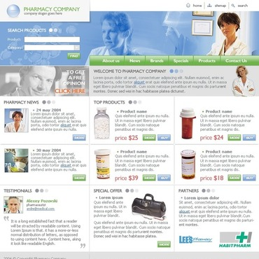 Drug Store Website Template