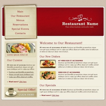 Cafe and Restaurant SWiSH Template