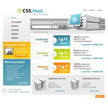 Hosting Flash Template