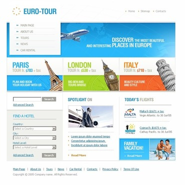 Travel Agency Website Template