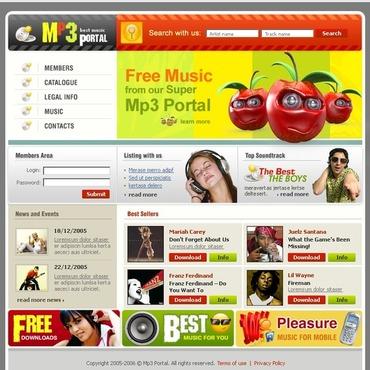 MP3 Store Website Template